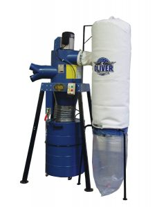 Two-Stage Cyclone Filter Bag Dust Collector with Remote Control - 7150