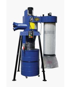 Two-Stage Cyclone Canister Dust Collector 3HP with Remote Control - 7155